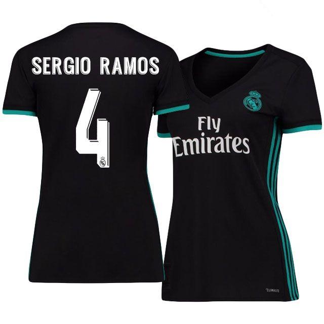 ffb23d922 Real Madrid Jersey 17-18 sergio ramos Away Women Shirt