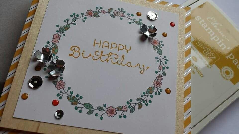 #cottagegarden #sparkle #sequins #cardmaking #creative #su #stampinup  https://www.facebook.com/pages/Sally-Jo-Houghton-Independent-Stampin-Up-Demonstrator/117500255000551