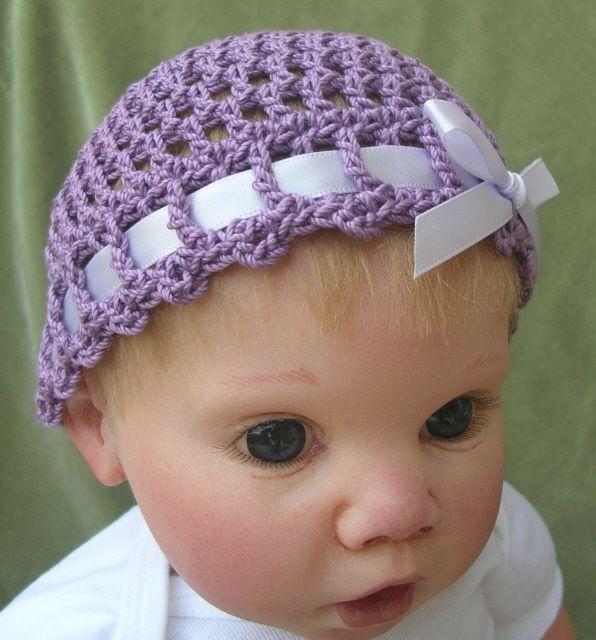 Crochet Spiral Mesh Baby Hat Free Pattern Doll Babies Reborn