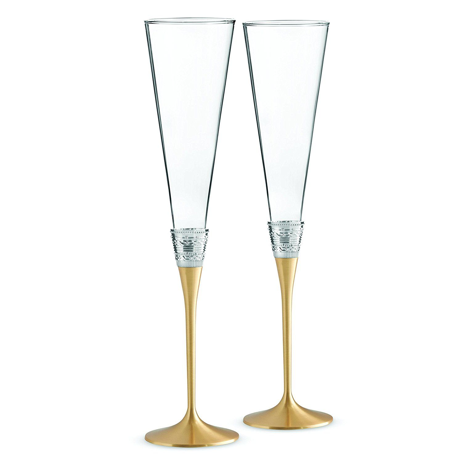Wedgwood Vera Wang with Love Toasting Flute Pair, Gold ** Visit the ...