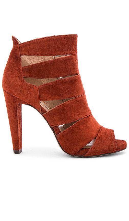6fe769d0d14 Pura Lopez Cutout Heel in Suede Cotto