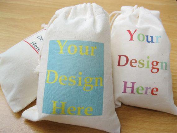 Custom Muslin Bag Wedding Favors Bag Fabric Gift Bags Drawstring ...