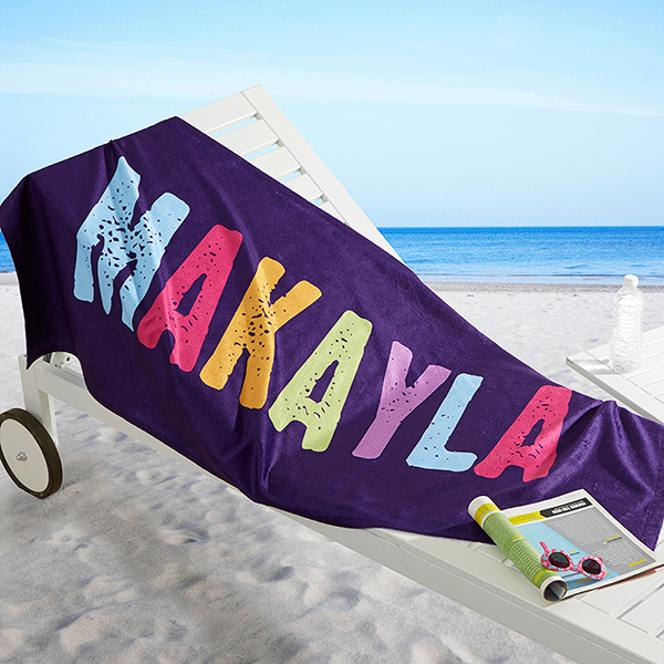 All Mine Personalized 30x60 Beach Towel Kids Beach Towels