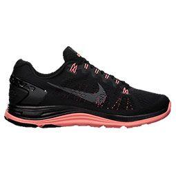 Nike Women's Running Shoes Lunarglide+ 5 Premium Black/Dark Grey/Atomic Pink