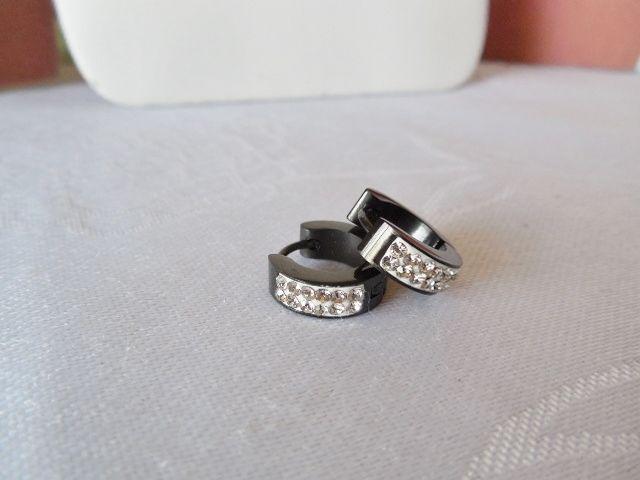 Stainless Steel & Crystal Hoop Pierced Earrings - Your choice of Color #Hoop