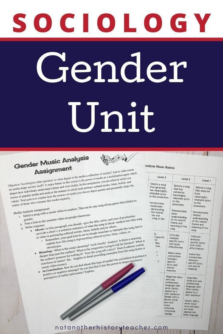 Gender unit sociology social studies resources history
