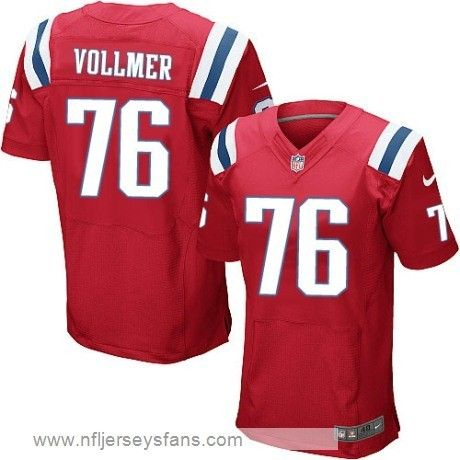 sebastian vollmer jersey no.76 mens nike elite new england patriots red alternate cheap