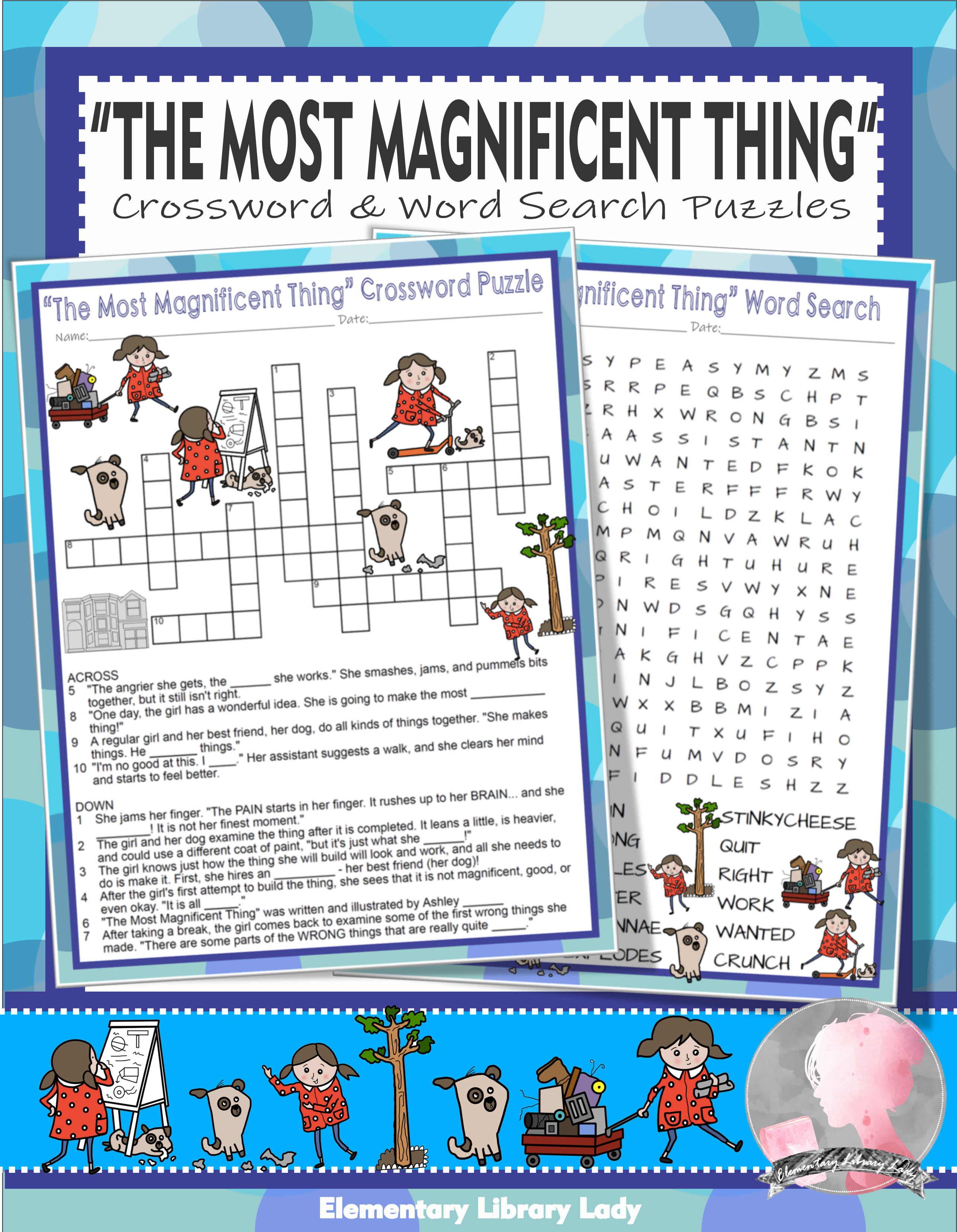 The Most Magnificent Thing Activities Spires Crossword Puzzle And Word Searches The Most Magnificent Thing Activities Learning Science