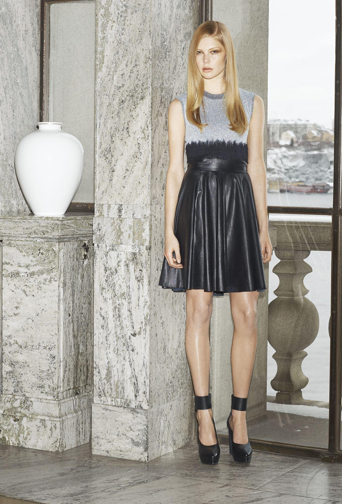 Fall/Winter 2014   House of Dagmar #Top Black Monochrome Leather Skirt Casual Modern Love Style Fashion