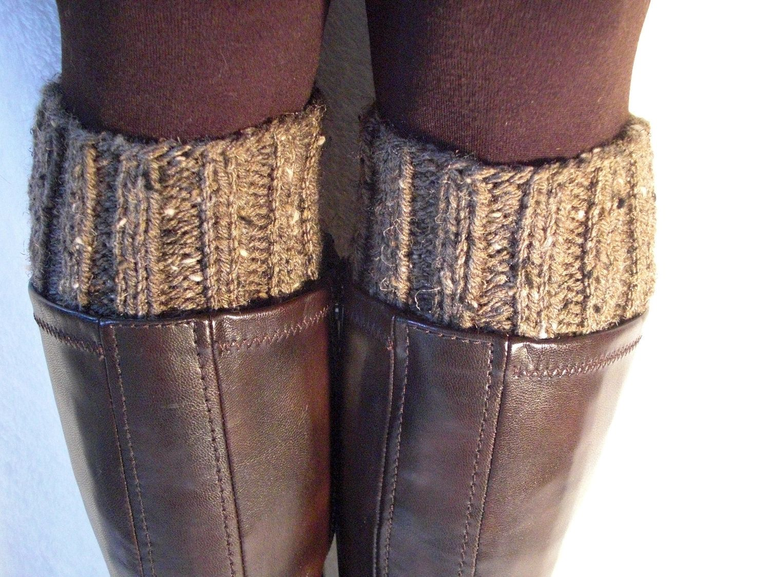 Hand knit boot toppers, boot cuffs, boot buffers, leg warmers. MANY ...