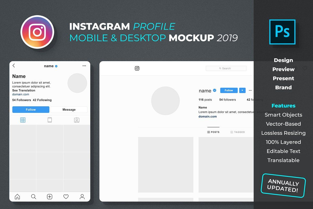Ad Instagram Profile Mockup By Feingold Shop On Creativemarket Design Preview Present And Brand Instagram Pro Instagram Profile Social Media Mockup Mockup