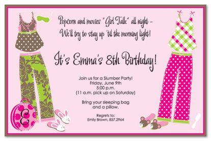 Free Free Template Free Printable Slumber Party Birthday Invitations