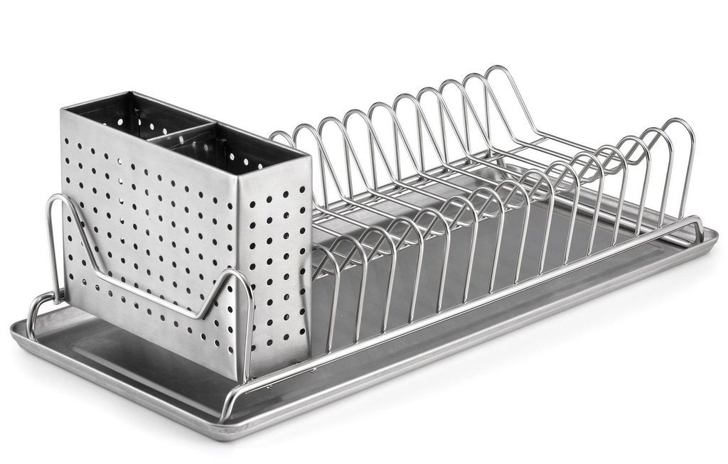 30 Stainless Steel Dish Rack Drying Designs For Your Kitchen