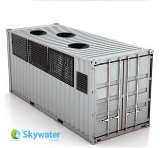 Skywater Produces Up To 900 Gallons Of Pure Drinking Water Daily Turns Air Into Water Water Purification System Water Purification Water Generator