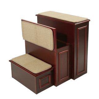 Best Gen7Pets Espresso Brown Wood And Carpet Conversion Step 400 x 300