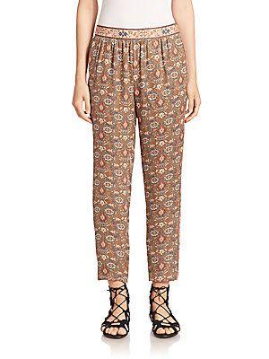 Joie Stearling Silk Printed Pants