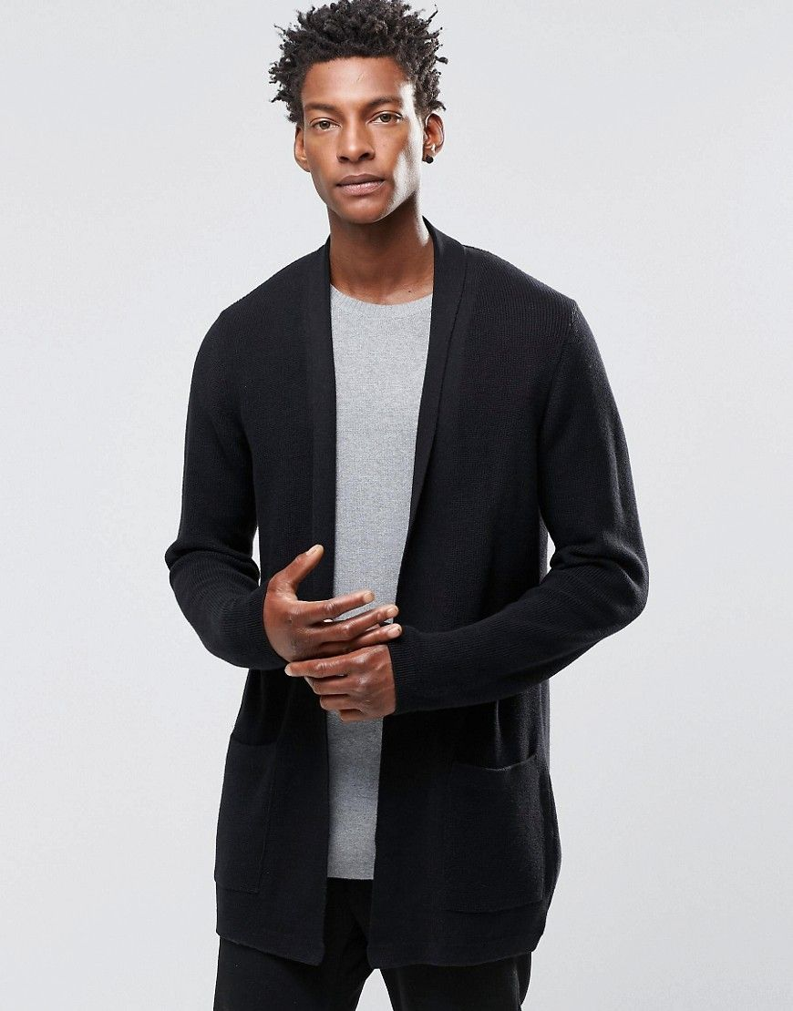 ASOS Longline Open Cardigan with Shawl Neck NOW $52 | Men's ...