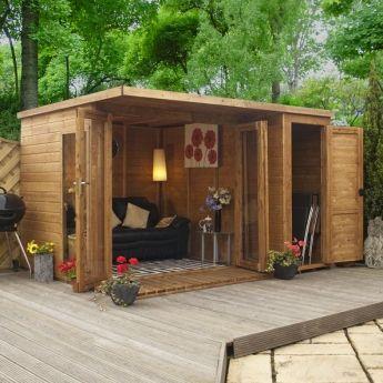 Garden Shed Bar Wooden Summer House Contemporary Garden Rooms Contemporary Garden