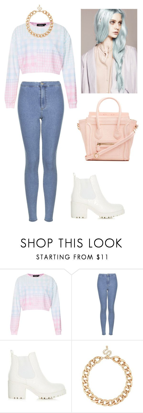 """""""Pastels"""" by momockapai ❤ liked on Polyvore featuring Topshop, MOOD and DailyLook"""