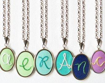 Personalized Jewelry. Monogram Pendant. by merriweathercouncil