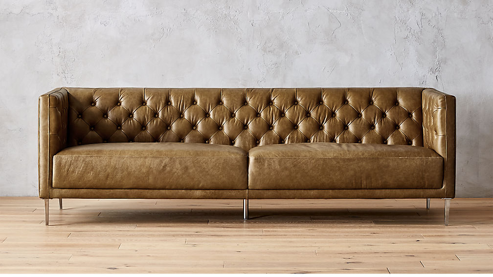 Savile Bello Saddle Leather Tufted Sofa Reviews Cb2 Tufted Sofa Leather Sofa Leather Furniture