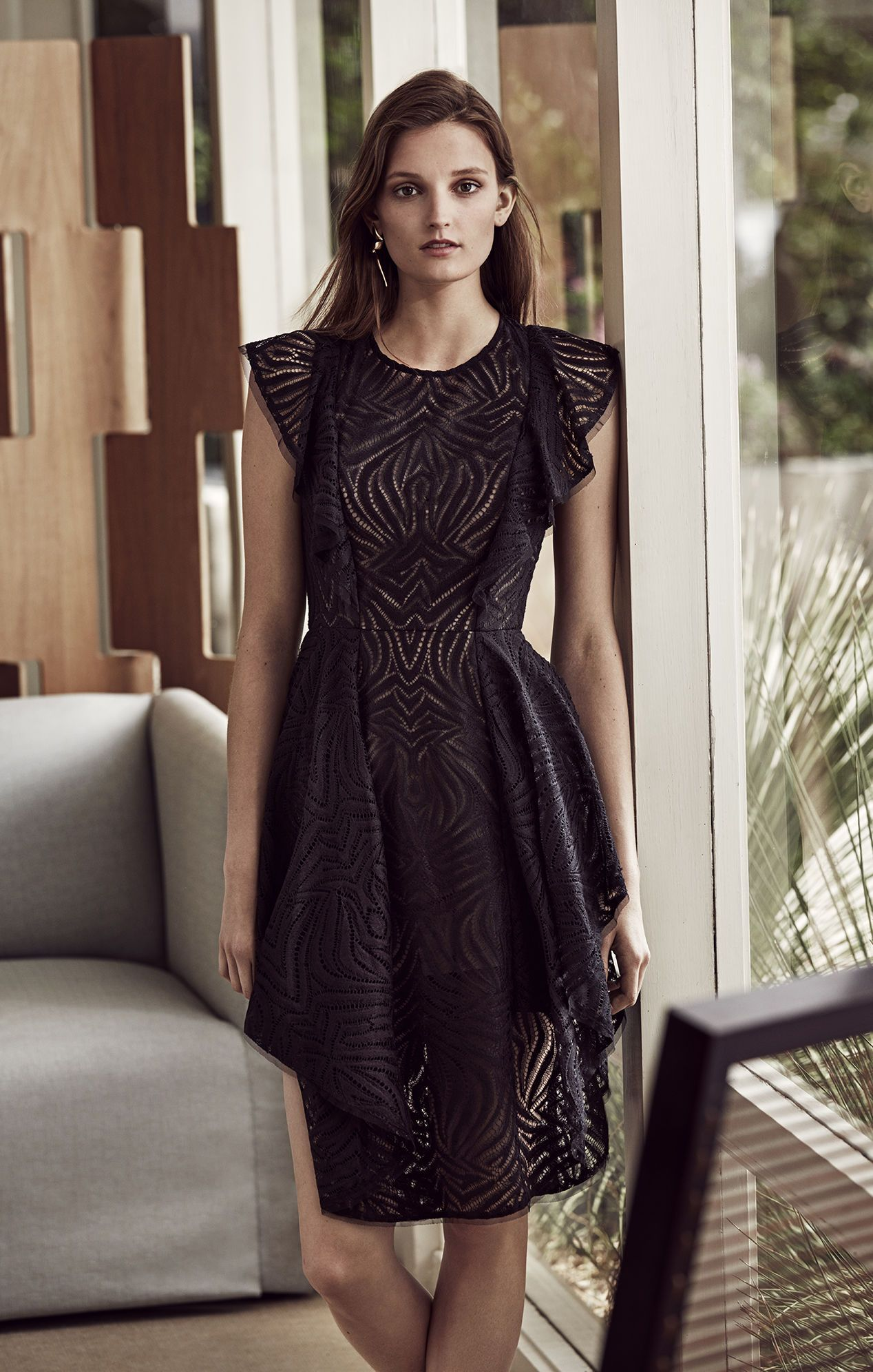 Browse Through A Stunning Collection Of Cocktail Dresses From Top Designers Buyer Sel Cocktail Dress Lace Cocktail Dress Maternity Black Wedding Guest Outfits [ 1992 x 1268 Pixel ]