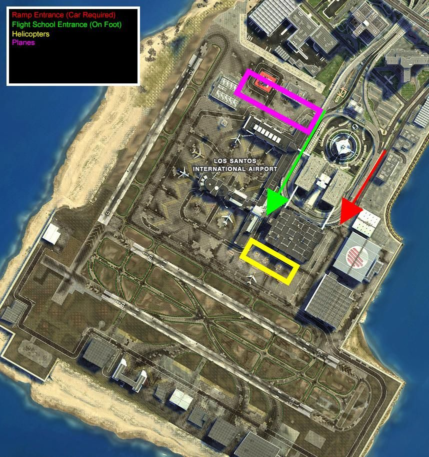 GTA 5 Airport Aircraft Locations