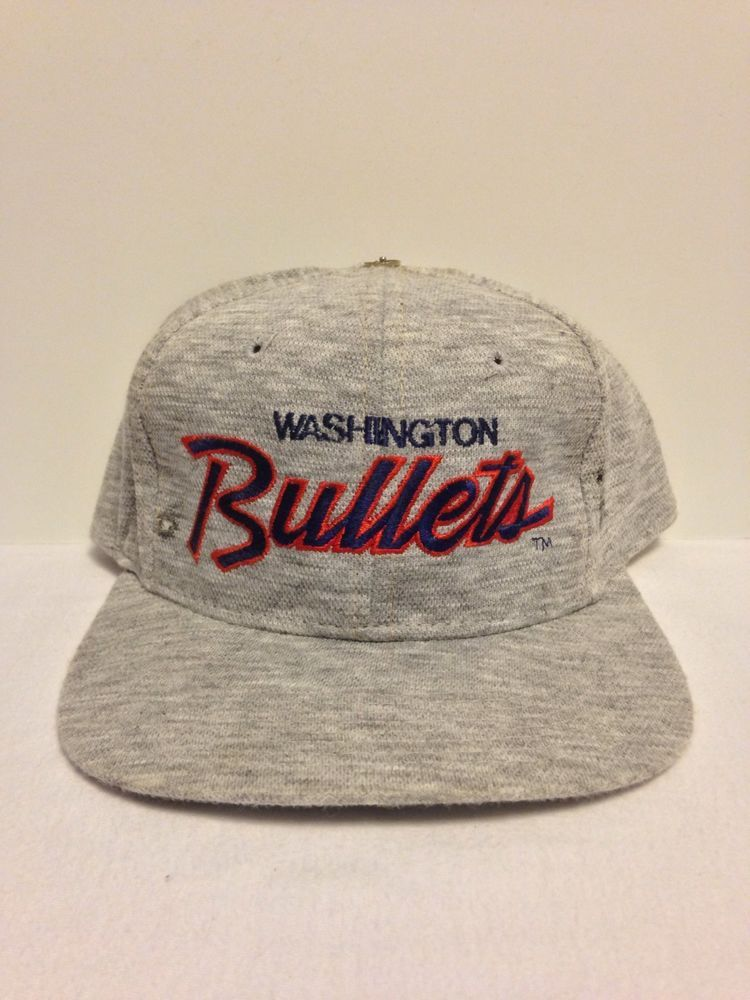 eeefa6e9175 Washington Bullets Sports Specialties Heather Vintage Snapback Hat Starter  Nba  SportsSpecialties  WashingtonBullets