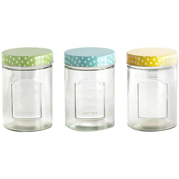 Candy Lolly Jar liked on Polyvore featuring home kitchen