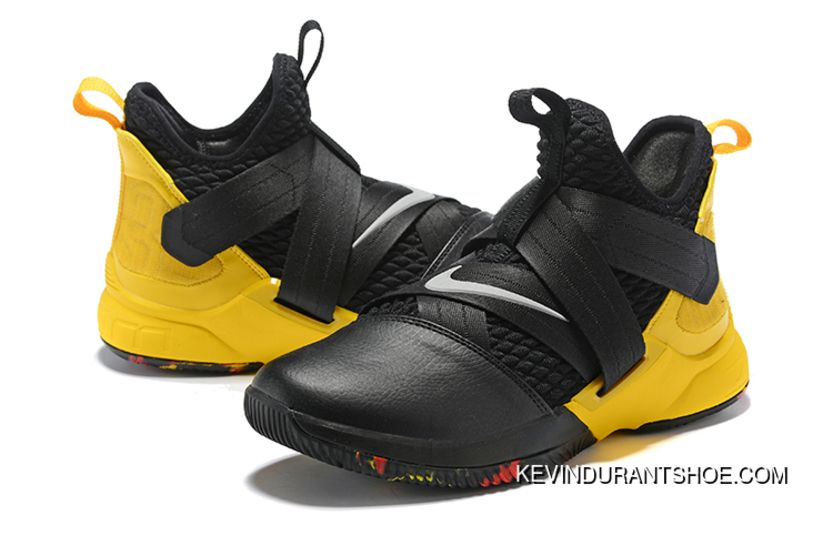 the latest 23ca6 ca258 Free Shipping Nike LeBron Soldier 12 Black Yellow