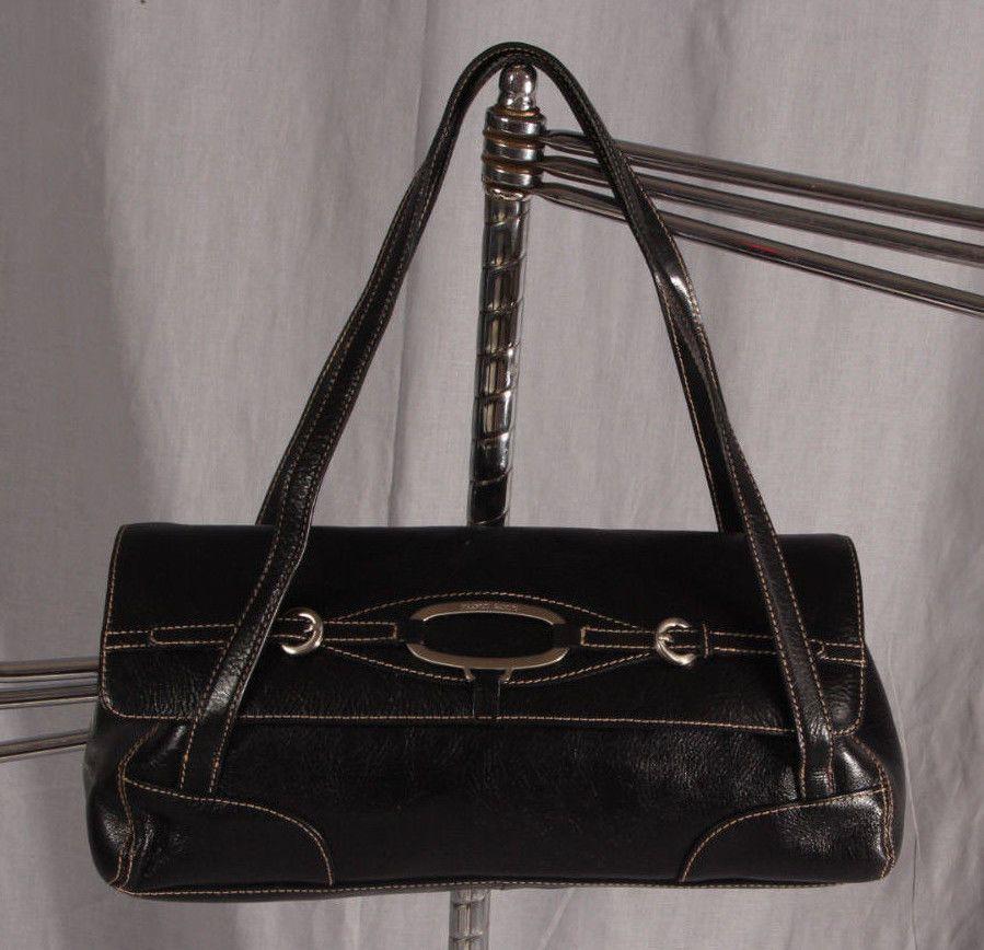 Women's Purse Hand Bag FRANCO SARTO Black Medium Shoulder Bag #FrancoSarto #ShoulderBag