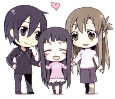 asuna and kirito chibi Google Search Anime Pinterest