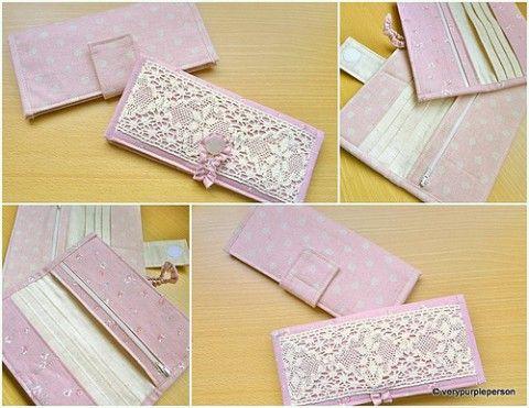 c5e9e81c2 Passo a passo e moldes de carteiras de tecido | design | Carteira de ...