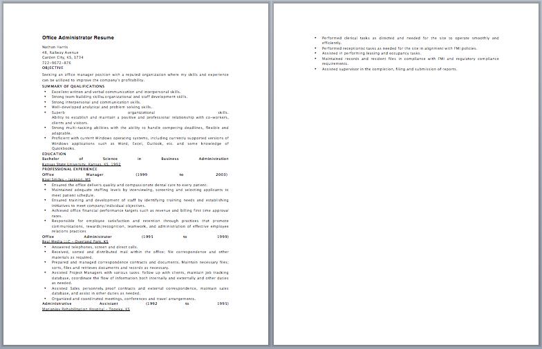 Office Administrator Resume  Best Resume Examples  Resume