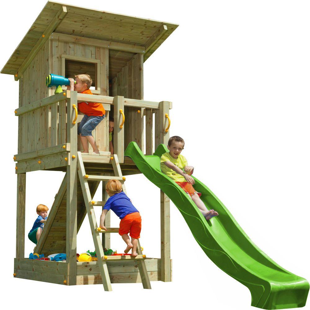 Blue Rabbit 2 0 Spielturm Beach Hut Mit Rutsche Rampe Mit Seil Spielhaus Spielturm Spielturm Garten Spielturm Kleiner Garten