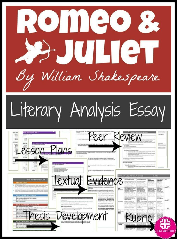 High School Essay Romeo And Juliet Essay Teach Students Literary Analysis Essays Romeo And  Juliet Activities Lesson Plans And Quotes Click To Learn More English Essay On Terrorism also Learn English Essay Writing Romeo And Juliet Essay Unit With Lesson Plans For The Entire Writing  Advanced English Essays