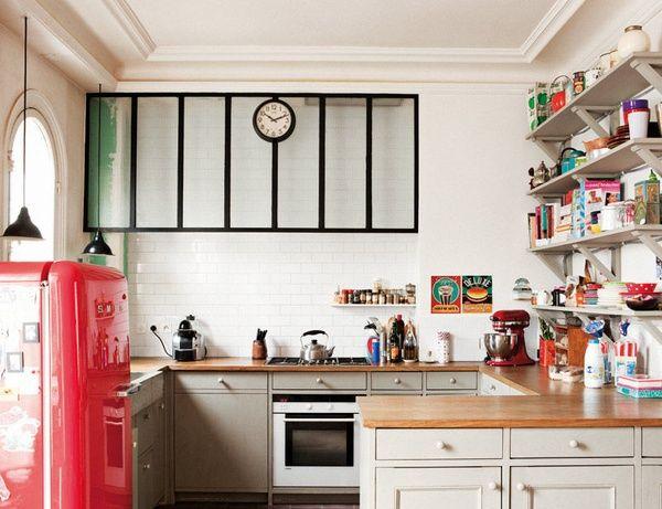 Un appartement parisien Hotte, Verre et Appartements parisiens