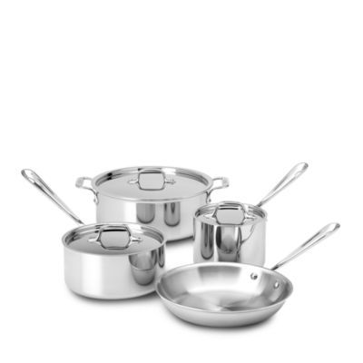 All Clad All Clad Stainless Steel 7 Piece Cookware Set 100 Exclusive Kitchen Cookware Cookware Sets Bloomingdale S Cookware Set Cookware All Clad All clad 7 piece set