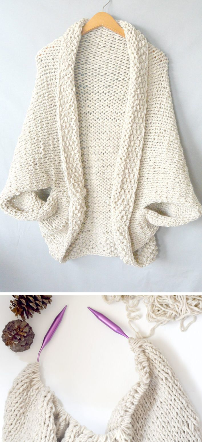 Photo of Easy Knit Blanket Sweater – Free Pattern