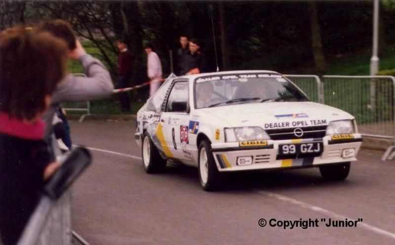 DECAL OPEL MONZA GSE AUSTIN MCHALE CIRCUIT OF IRELAND RALLY 1987 5th 05