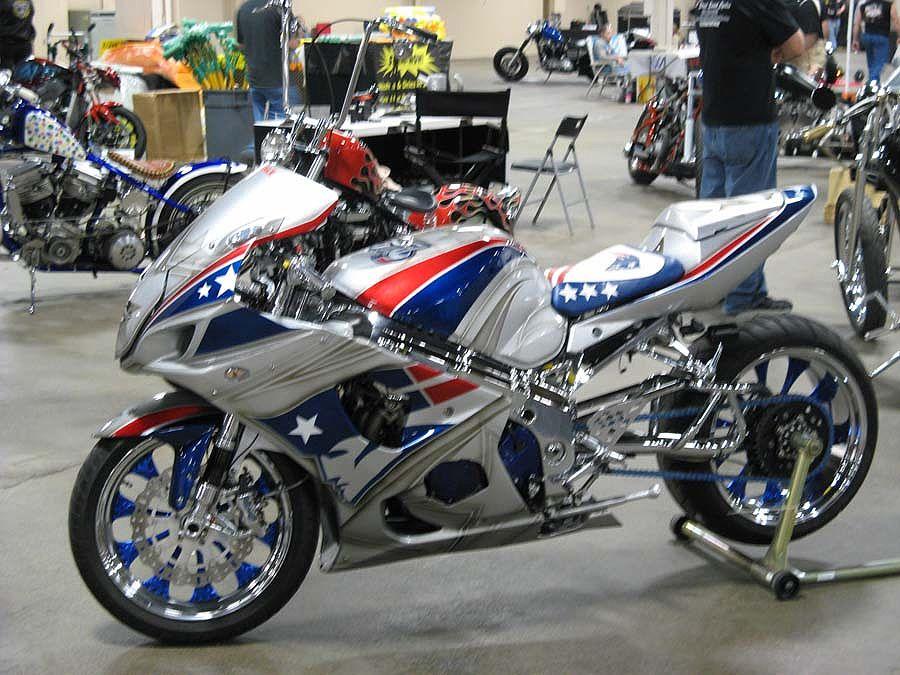 Custom Patriotic Sport Bike Sport Motorcycle Custom Sport Bikes