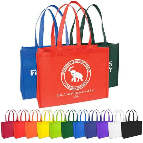 Eco Friendly Medium Shopper Bag Budget Wholesale Non Woven Tote