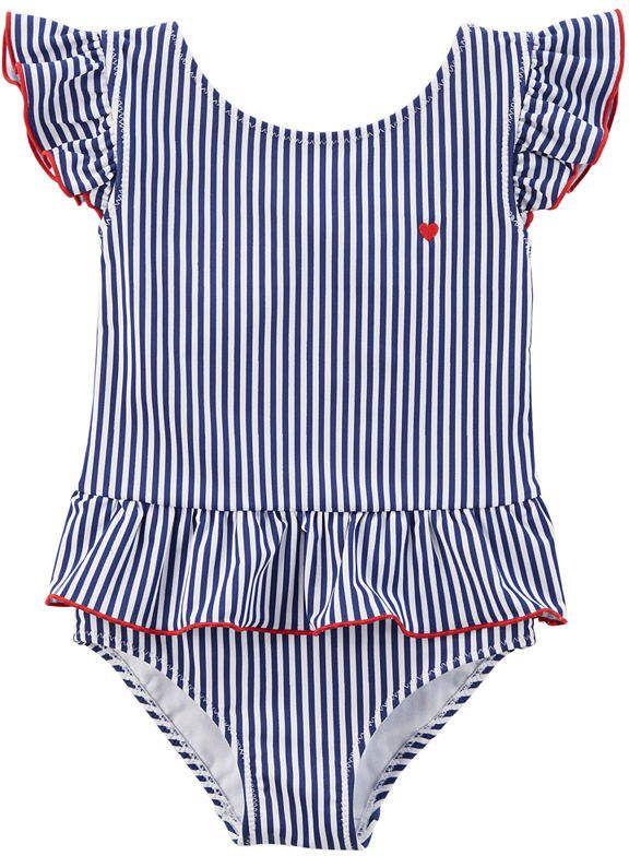 e9939dbd8 Stripe One Piece Swimsuit Baby Girls #Piece#Stripe#Carter | Preppy ...