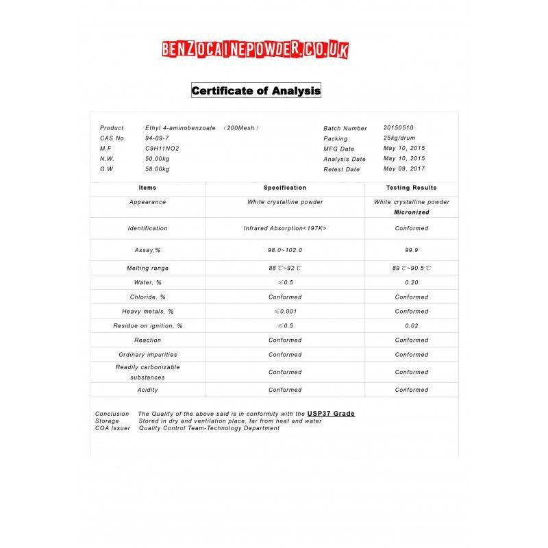 Benzocaine Powder - 500g Pure Benzocaine Powder | Benzocaine
