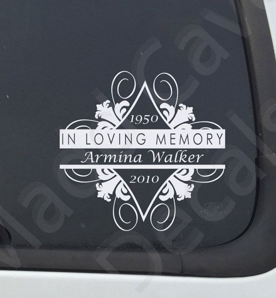 "In Loving Memory Of CANCER RIBBON 8/"" Decal Window Custom Memorial car decals"