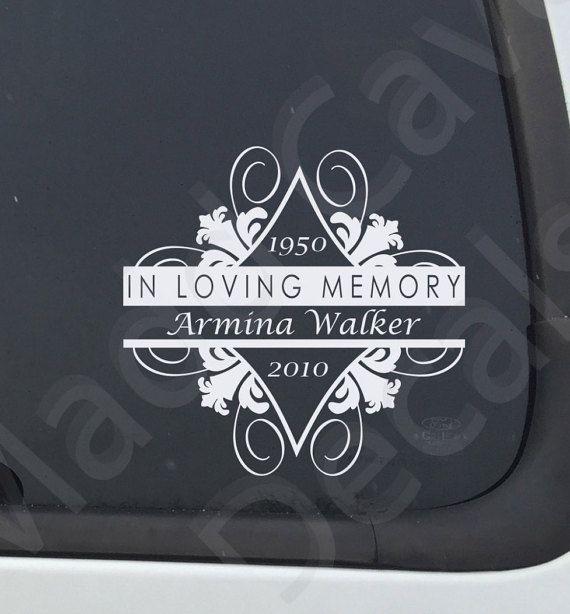 In Loving Memory Car Decals >> In Loving Memory Of Memorial Decal Missing You Decal Memorial