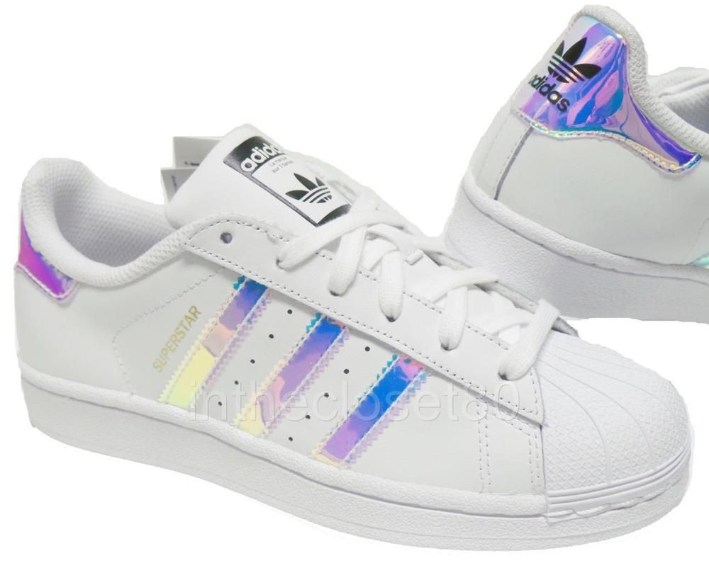 best service 19176 cb32d Adidas Superstar Iridescent GS White Silver Juniors Womens Girls Trainers  AQ6278 Adidas Trainers