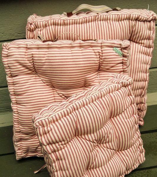 French Mattress Floor Cushion Or Window Seat Cushion Farmhouse Cushion With Vintage Appeal Traditional French Mattress Floor Cushions French Mattress Cushion