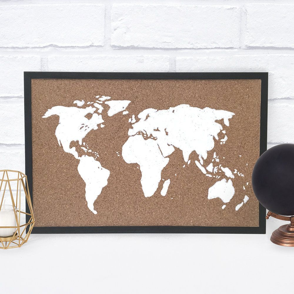 Diy cork map for the home pinterest cork map diy cork board
