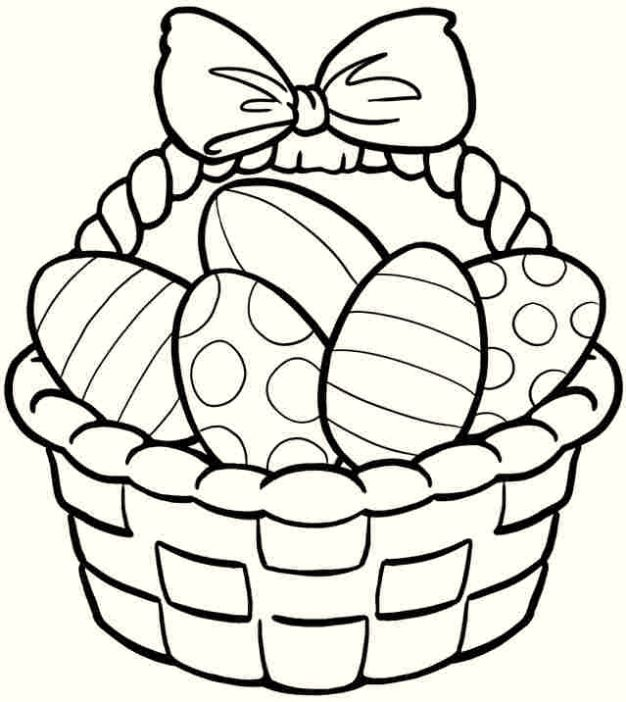 Easter Egg Basket Coloring Pages Free Easter Coloring Pages Easter Printables Free Bunny Coloring Pages